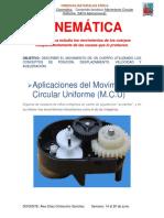 CINEMÁTICA_MCU - Aplicaciones