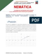 CINEMÁTICA_posicion,velocidad y aceleración
