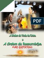 A ORDEM DA VINDA DO SENHOR JESUS CRISTO E A ORDEM DA RESSURREIÇÃO +