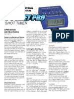 Pro Timer Instruction Manual