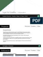 Plantilla Presupuesto Proyecto X- Cliente Y_ ESCUELA AUDIOVISUAL
