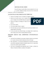 DEFINICIÓN ADMINISTRACIÓN DEL TIEMPO