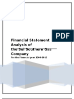 Financial Statement Analysis - SSGC Pakistan