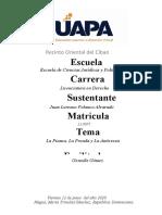 Analisis contrato de fianza, prenda y anticresis (Unidad V)