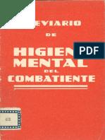 Breviario de higiene mental del combatiente