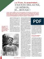 Auguste Delaune, derriere le heros, le sportif... rouge