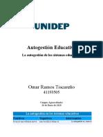 Auto Gestión en procesos educativos