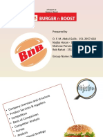 A project on burger and boost