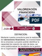 VALORIZACIÓN FINANCIERA  CLASE DIA LUNES 13