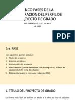 CINCO FASES PARA LA ELABORACION DEL PROYECTO DE GRADO