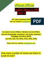 Islamic Studies MCQs in PDF Part-6.pdf