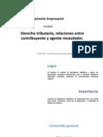 U4_Derecho tributario, relaciones entre contribuyente y agente recaudador