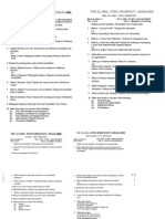 The Global Open University Nagaland Sem 1 Paper IT and Systems 12