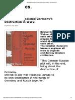 1932 Book Predicted Germany's Destruction in WW2 - henrymakow.com