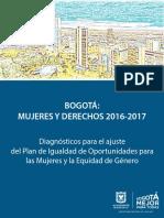 Bogotá Mujeres y Derechos  2016 - 2017