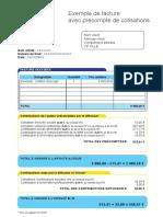 Exemple de facture avec précompte