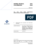 NTC 4046 Cal Viva (CaO) para Propósitos Estructurales. Especificaciones.pdf