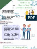 Medidas de bioseguridad en el personal de salud