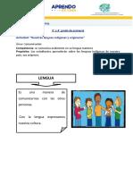 3ERO Y 4TO PRIMARIA- LENGUAS ORIGINARIAS .