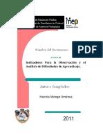INDICADORES PARA LA OBSERVACIÓN Y EL ANÁLISIS DE DIFICULTADES DE APRENDIZAJE..pdf