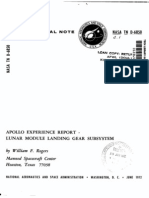 Apollo Experience Report Lunar Module Landing Gear Subsystem