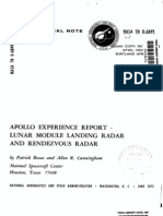 Apollo Experience Report Lunar Module Landing Radar and Rendezvous Radar