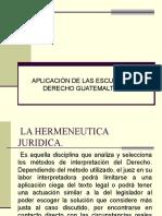 Escuelas en el Derecho guatemalteco