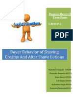 46918686 Buying Behaviour of Shaving Creams and After Shave Lotions