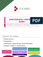 FISIOTERAPIA pós mastectomia
