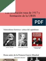 Las revolución rusa de 1917
