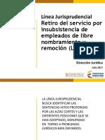5. Línea Jurisp retiro declaratoria de insubsistencia L.N Y R