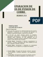 SESION N°4  - PREPARACION DE LECHOS DE FUSION DE COBRE