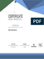 Basic Pump Certificate