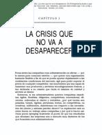 LA CRISIS NO DESAPARECE