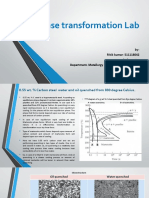 Phase Transformation in material science