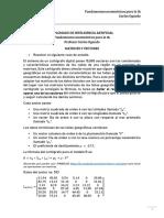Ejercicios sobre álgebra lineal