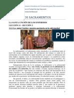 11.3. El Sacramento de la Santa Unción y nuestra paciencia en la enfermedad