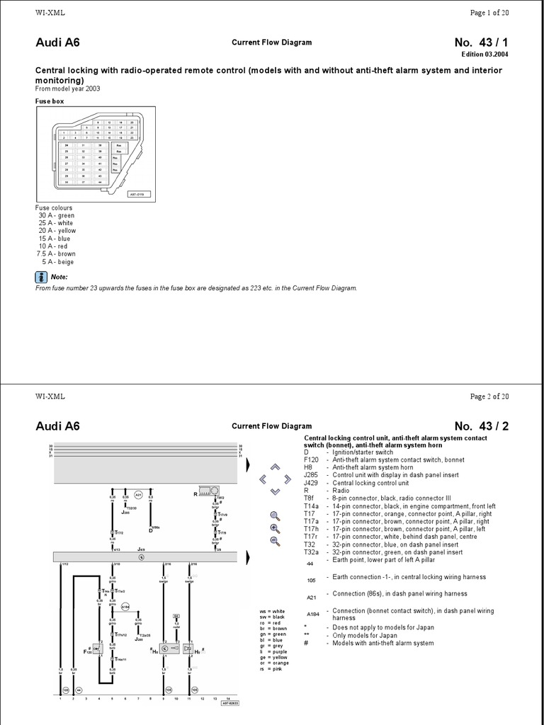 Charming 1998 Audi A6 Power Window Wiring Diagram Images ...