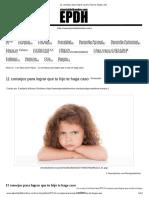 11 consejos para lograr que tu hijo te haga caso