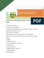 Termoquímica tarea