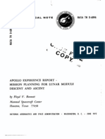 Apollo Experience Report Mission Planning for Lunar Module Decent and Ascent