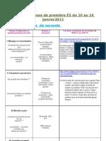 revue de presse de première ES du 10 au 14 janvier 2011