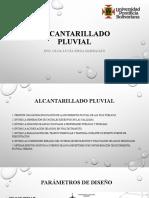 ALCANTARILADO PLUVIAL