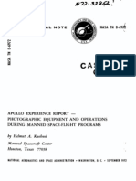 Apollo Experience Report Photographic Equipment and Operations During Manned Space-Flight Programs