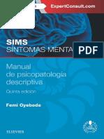 SIMS. Síntomas mentales. Manual de psicopatología descriptiva (5ta edición)