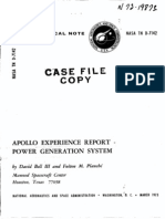 Apollo Experience Report Power Generation System