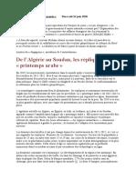 De l'Algérie au Soudan, les répliques du « printemps arabe »