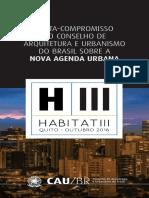 Carta-compromisso do Conselho de Arquitetura e Urbanismo do Brasil sobre a Nova Agenda Urbana – Habitat III