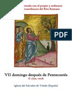 VII Domingo Despues de Pentecostes. Propio y Ordinario de la santa misa