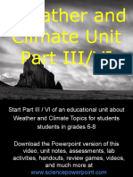 Weather and Climate Unit Part III/VI for Educators - Download Powerpoint at www. science powerpoint .com